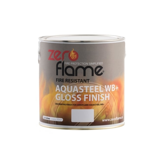 Zeroflame  Fire Resistant AquaSteel WB+ Gloss or Eggshell Finish 2.5lt